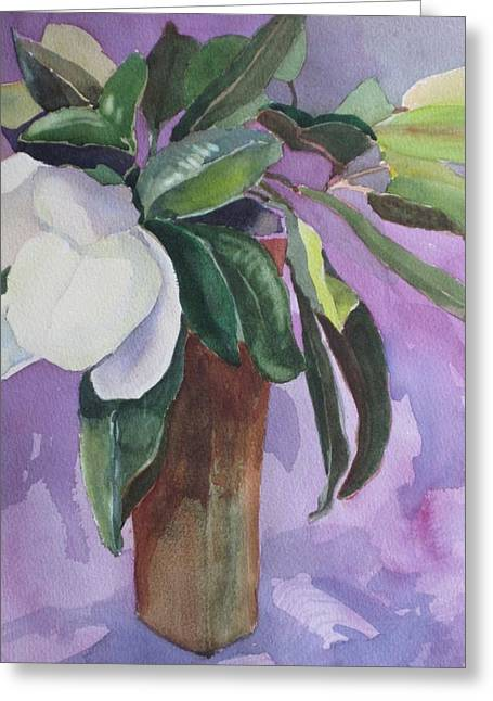 Elizabeth Carr Greeting Cards - Magnolia Greeting Card by Elizabeth Carr
