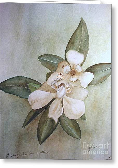 Magnolia For Mom Greeting Card by Georgia Johnson