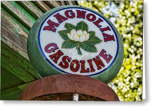 Magnolia Gasoline Greeting Card by Stephen Stookey