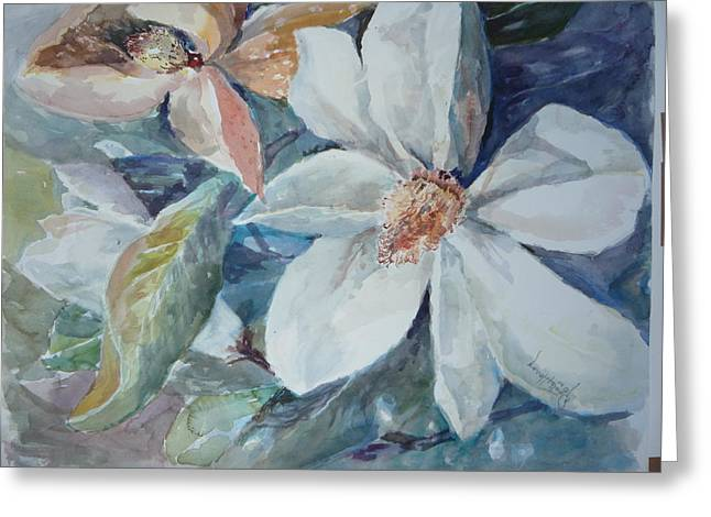 Magnolia Magic Greeting Card by Dorothy Herron