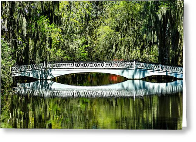 Magnolia Plantation Bridge - Charleston Sc Greeting Card