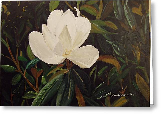 Magnolia Greeting Card by Sharon  De Vore