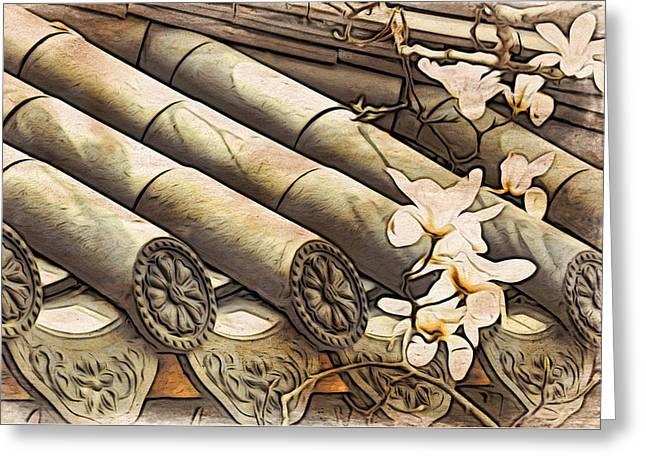 Magnolia Tiles Greeting Card