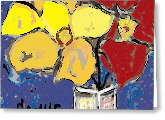 Magnolia Y Colores Greeting Card by Carlos Camus