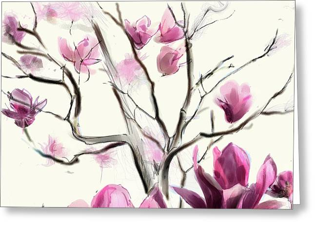 Magnolias In Bloom Greeting Card