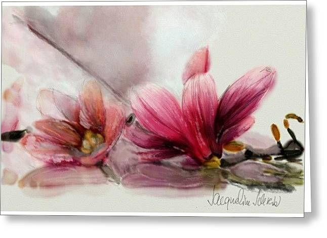 Magnolien .... Greeting Card by Jacqueline Schreiber