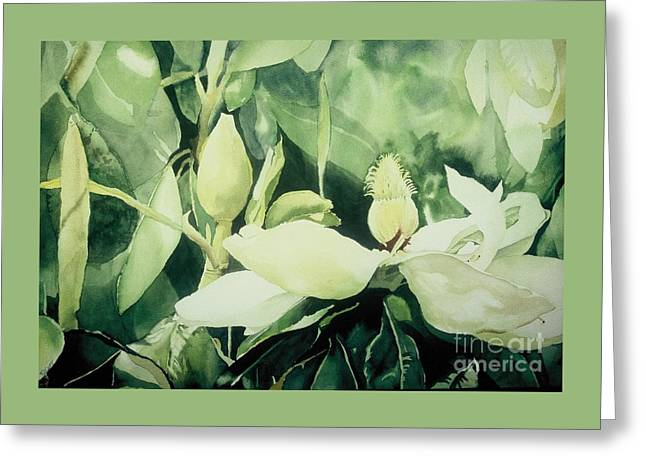 Greeting Card featuring the painting Magnolium Opus by Elizabeth Carr