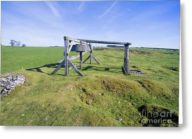 Magpie Mine, Mine, Lead Mine, Derbyshire, Peak District, Mining, Greeting Card by Steev Stamford