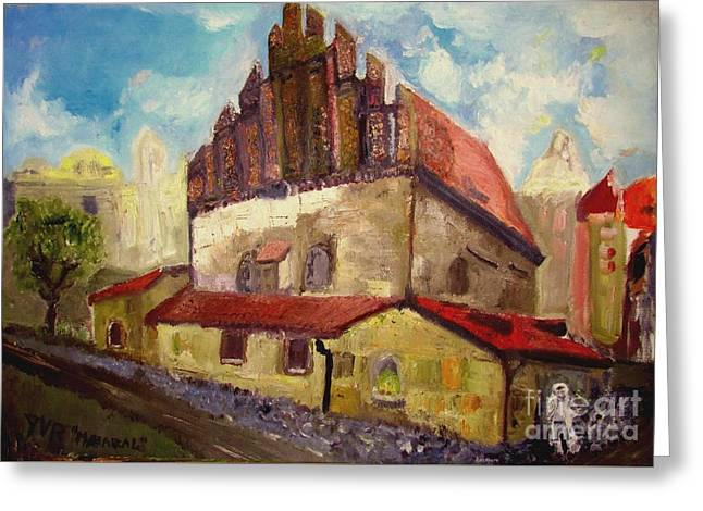 Maharal Of Prague Synagogue Greeting Card by Julien Radoff