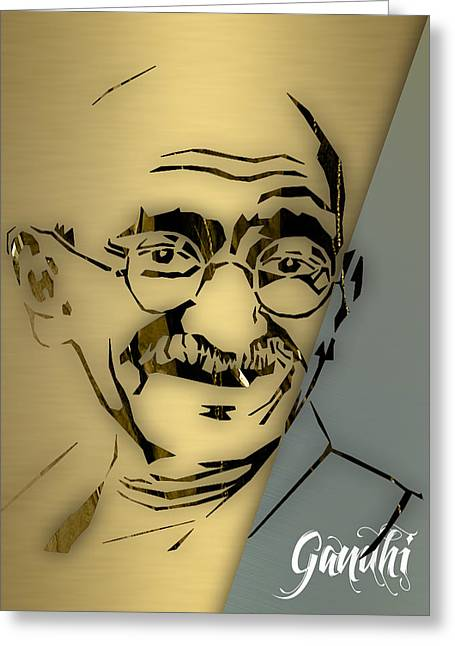 People Changing History Mahatma Gandhi Greeting Card