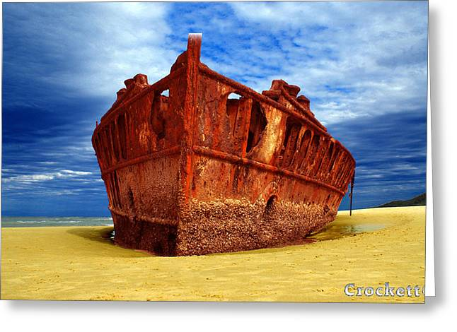 Greeting Card featuring the photograph Maheno Shipwreck Fraser Island Queensland Australia by Gary Crockett
