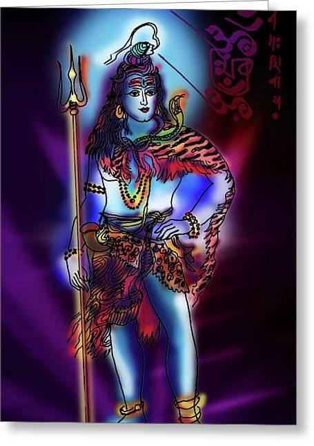 Maheshvara Sadashiva Greeting Card