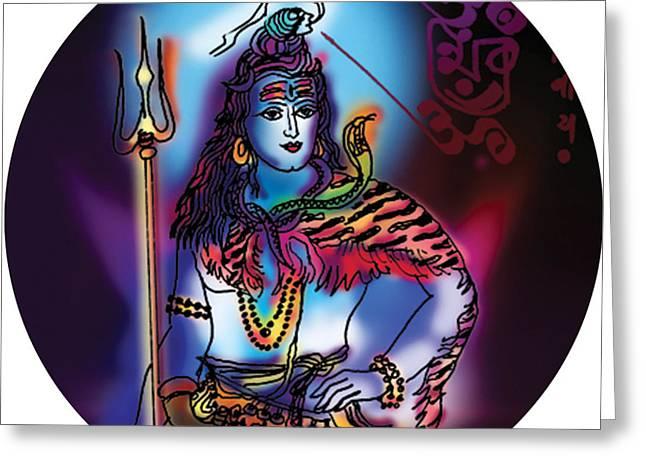 Maheshvara Shiva Greeting Card