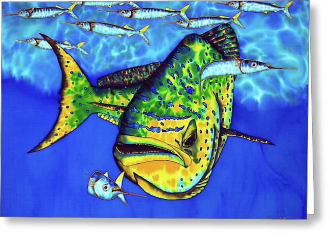 Mahi Mahi And Ballyhoo Greeting Card