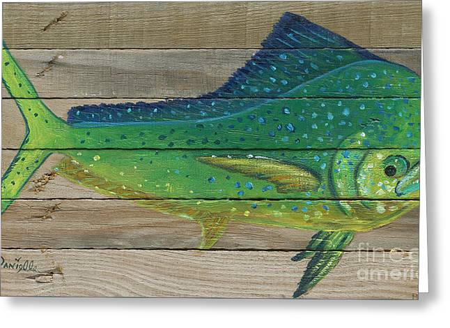 Mahi Mahi Greeting Card by Danielle Perry
