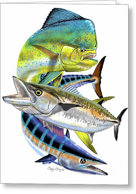 Mahi Wahoo Kingfish Greeting Card
