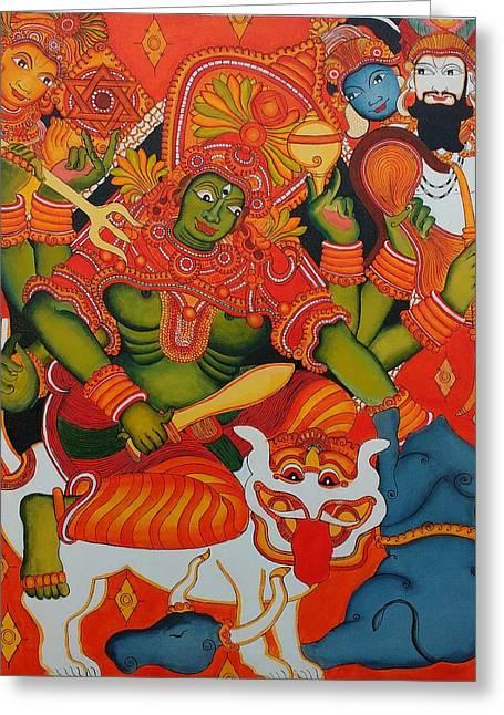 Mahishasuramardhini  Greeting Card