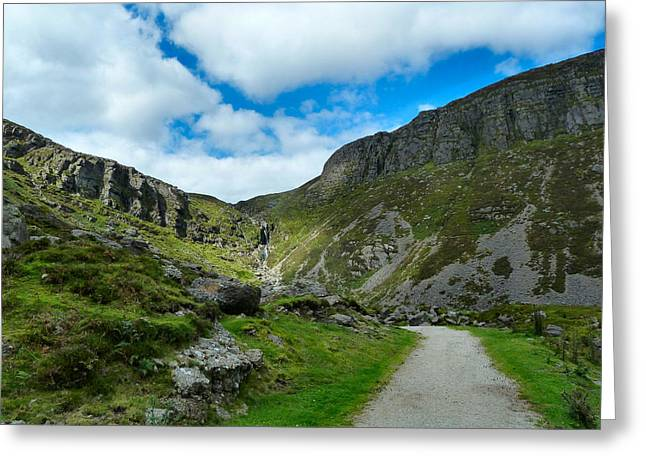 Mahon Falls Co Waterford Ireland. Greeting Card by Debra Collins