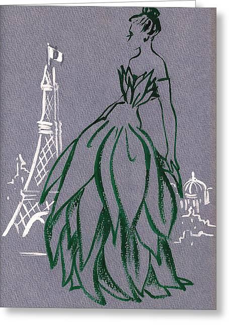 Mai En Paris 5 Greeting Card
