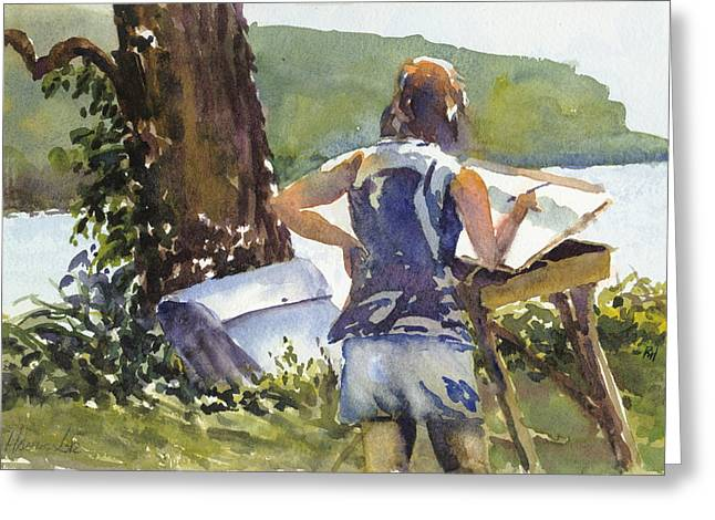 Maid In The Shade Greeting Card by Robert Haeussler