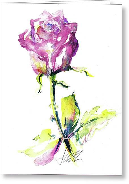 Maiden Rose Greeting Card