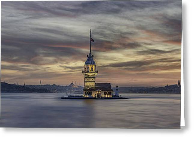Maiden Tower Greeting Card by Rilind Hoxha