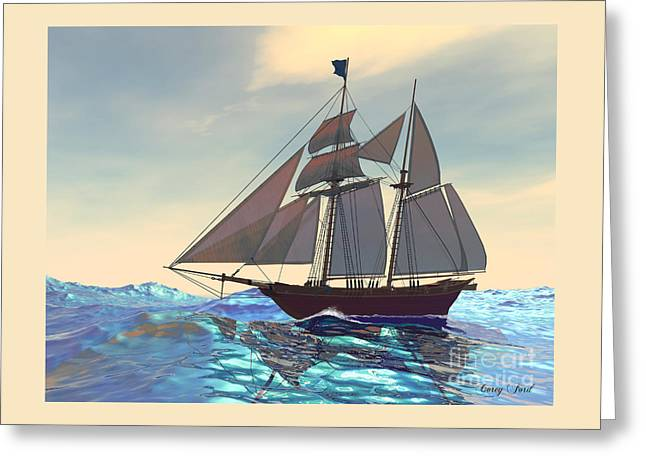 Maiden Voyage Greeting Card by Corey Ford