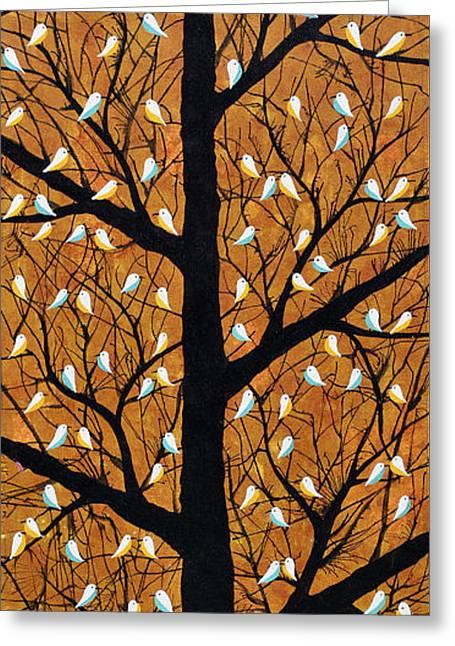 Maighan Vriksh Monsoon Tree Greeting Card by Sumit Mehndiratta