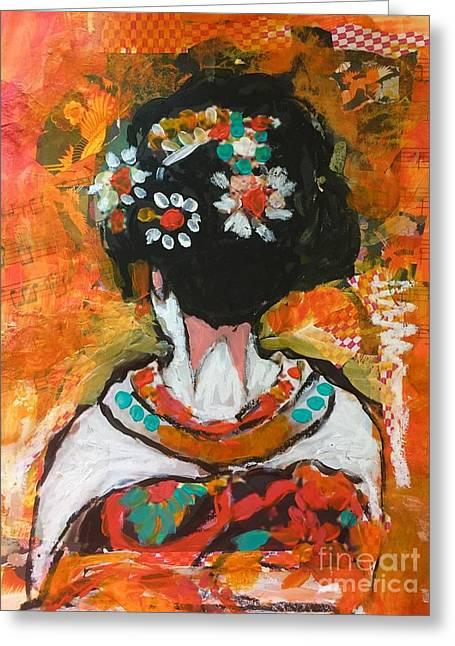 Maiko In Orange  Greeting Card