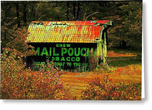 Rural Indiana Digital Art Greeting Cards - Mail Pouch Barn 5-2010 Greeting Card by Rick DeCroes