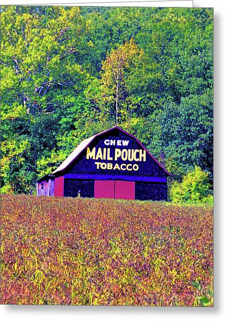 Mail Pouch Barn Image Greeting Card by Paul Price