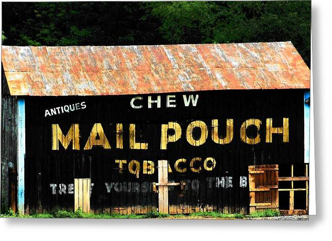 Mail Pouch Greeting Card by Michael L Kimble