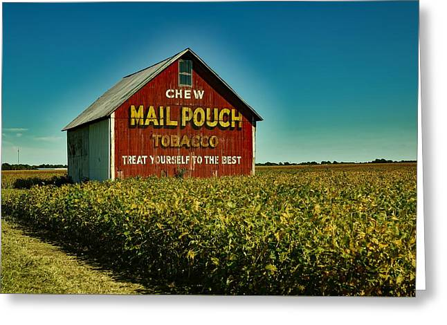 Mail Pouch Tobacco Barn Greeting Card by Mountain Dreams