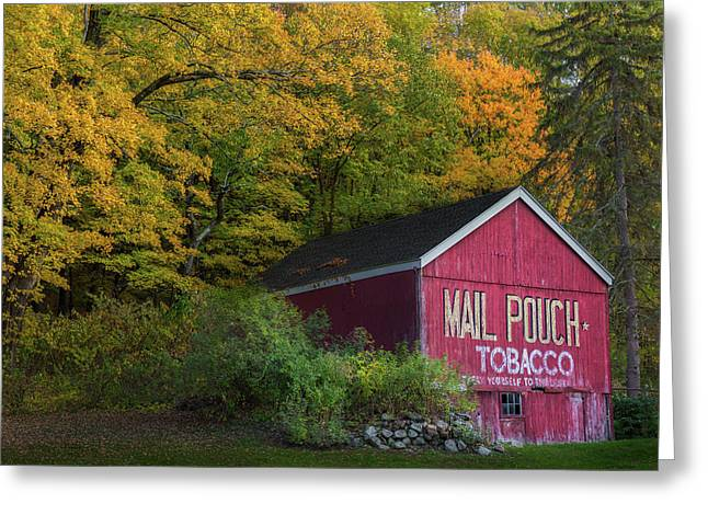Mail Pouch Tobacco Greeting Card by Bill Wakeley
