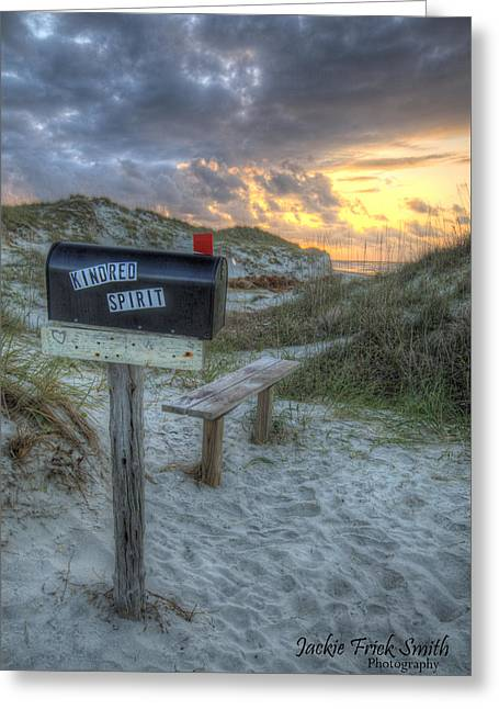 Mailbox Sunrise Greeting Card by Jackie Frick Smith