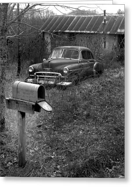 Mailboxcar Greeting Card