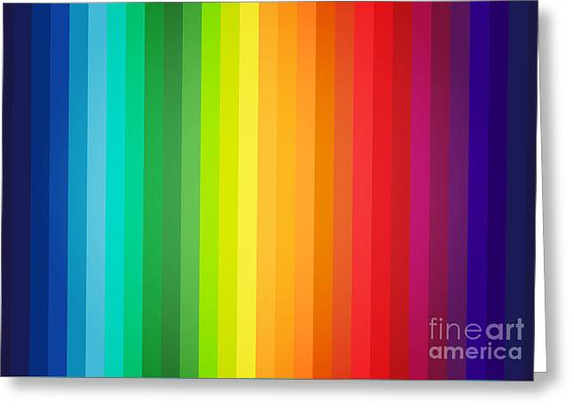 Main Colors Palette Spectrum Greeting Card by Radu Bercan