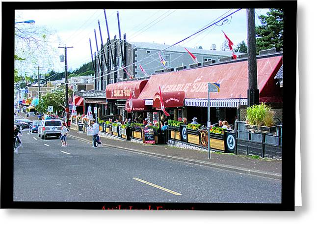 Main Street Greeting Cards - Main Drag Greeting Card by Attila Jacob Ferenczi