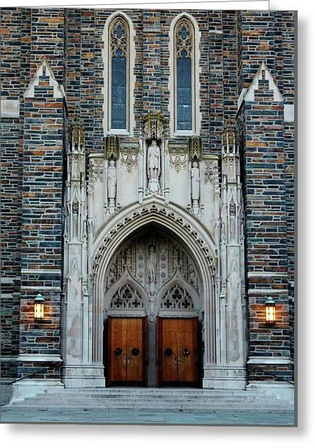Main Entrance To Chapel Greeting Card