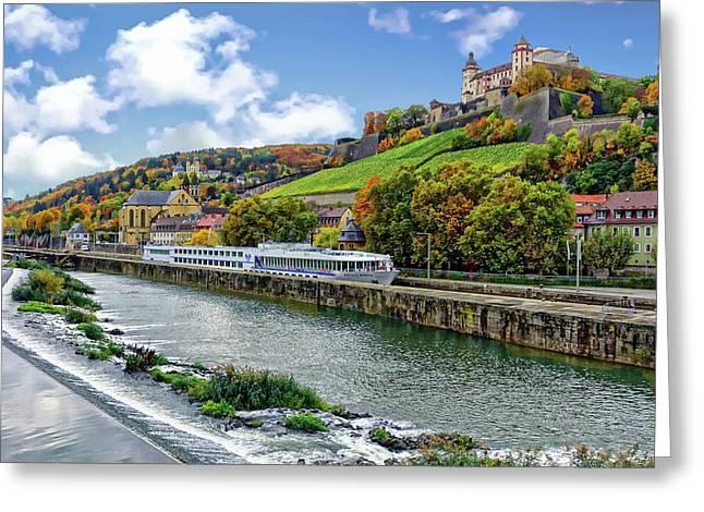 Main River Panorama Greeting Card
