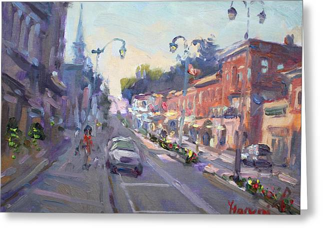 Main St Georgetown Downtown  Greeting Card