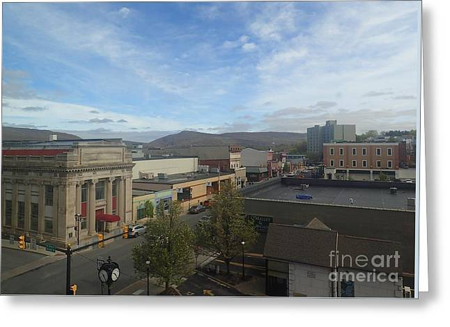 Main St To The Mountains   Greeting Card