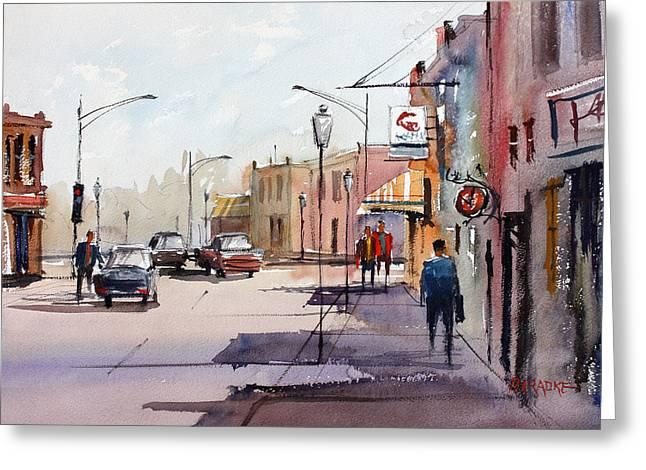 Main Street - Wautoma Greeting Card by Ryan Radke