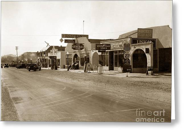 Main Street Atascadero California Circa 1925 Greeting Card