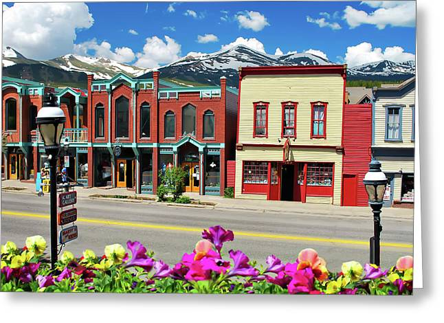 Main Street - Breckenridge Colorado Greeting Card by Gregory Ballos