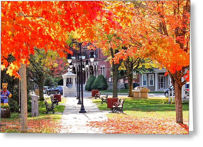 Main Street In The Fall Greeting Card