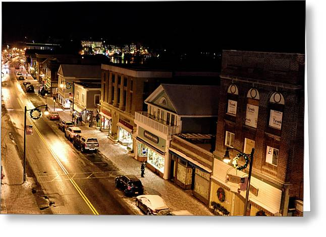 Greeting Card featuring the photograph Main Street - Lake Placid New York by Brendan Reals