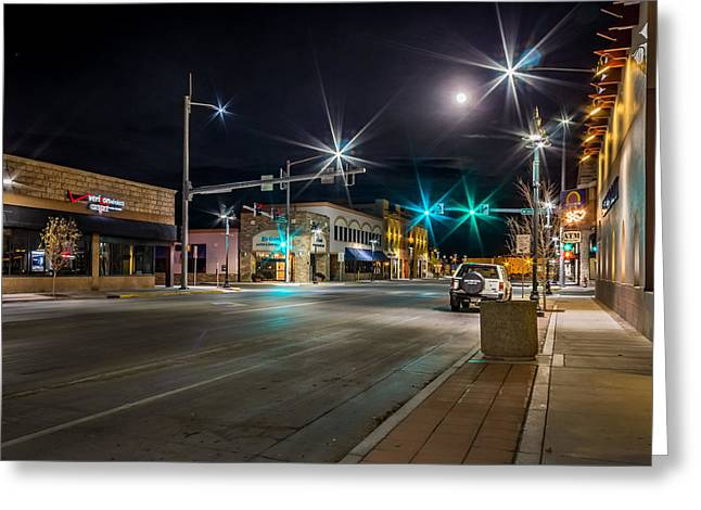 Main Street Monte Vista, Co Greeting Card by Kenneth Michel