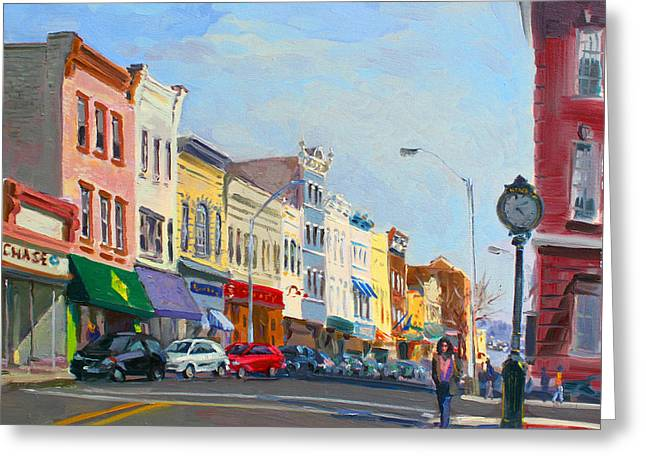 Main Street Nayck  Ny  Greeting Card by Ylli Haruni