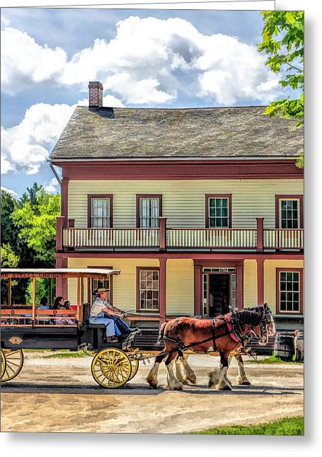 Main Street Of A Bygone Era At Old World Wisconsin Greeting Card by Christopher Arndt